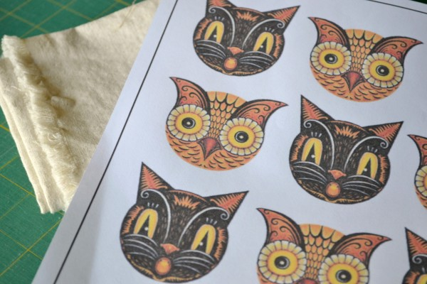 Cats and Owls on Linen