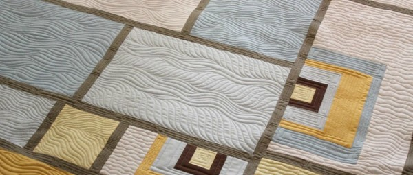Squares And Waves Quilt