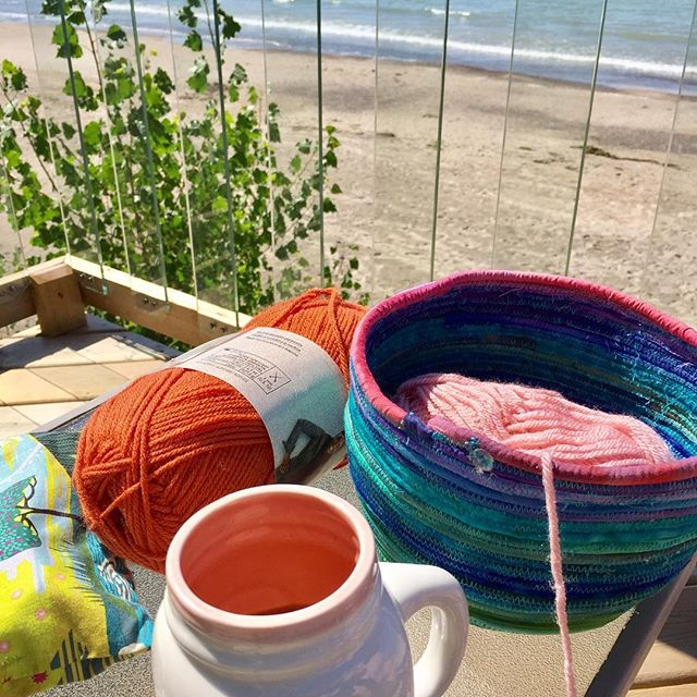 Beach crafting life on the Canadian shores of Lake Erie - happy Sunday, eh?