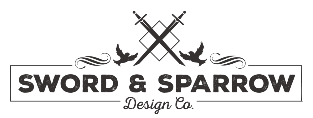 The logo of Sword & Sparrow designed by Danelle