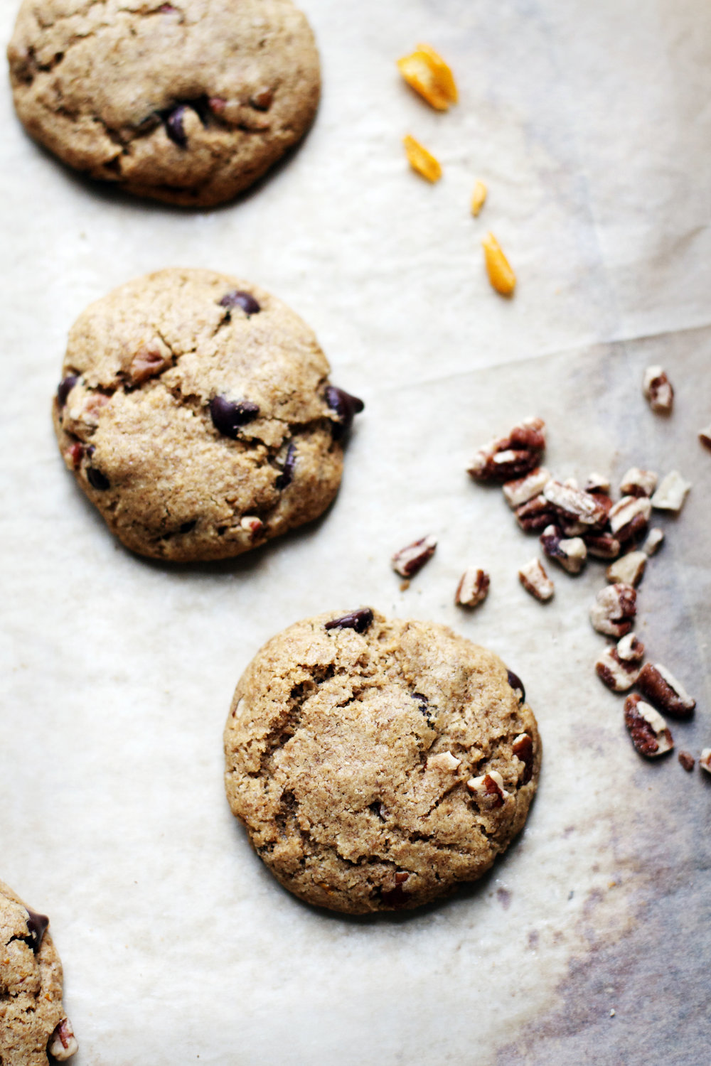 Chocolate Chip Spelt Cookies w/ Pecans + Orange {wheat free, dairy free} | Ruby Josephine