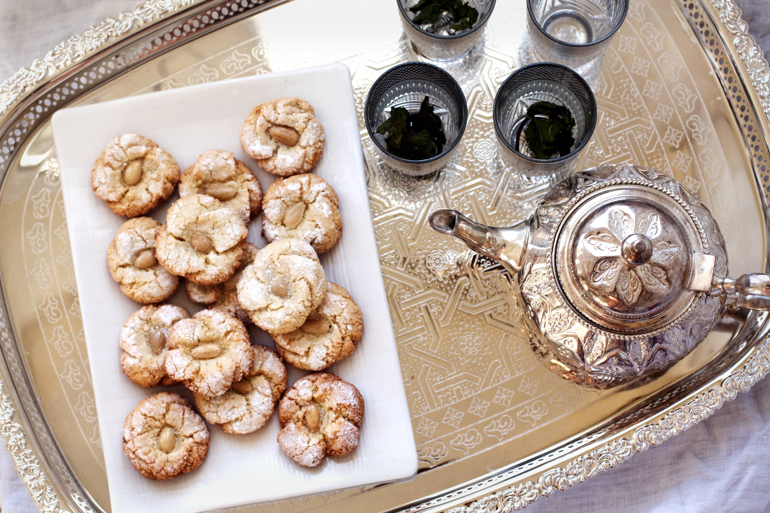 Mlouwza (aka Traditional Moroccan Almond Cookies) via Ruby Josephine