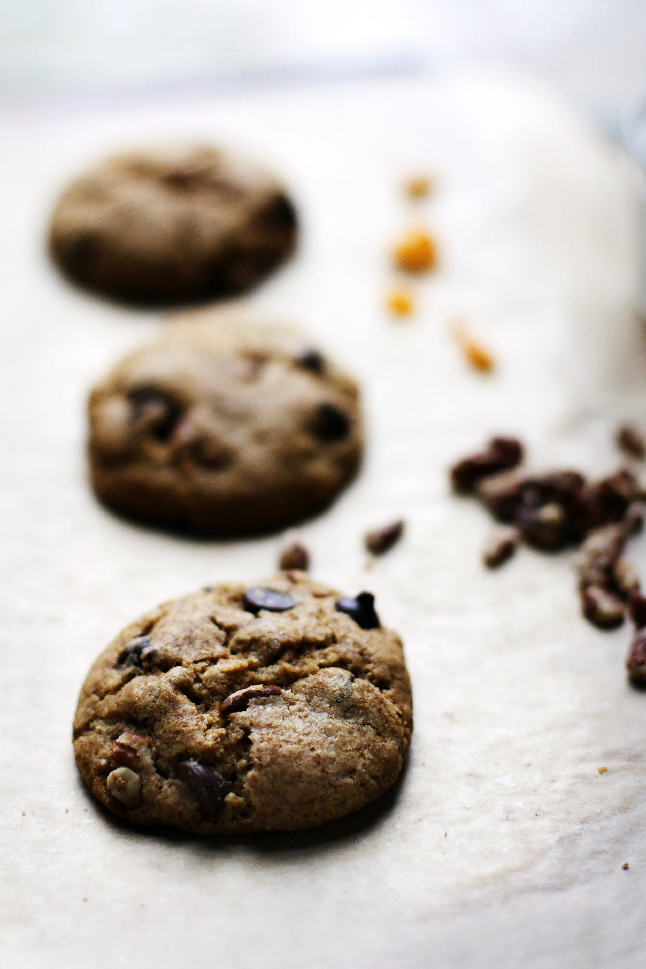 Chocolate Chip Spelt Cookies w/ Pecans + Orange {wheat free, dairy free}