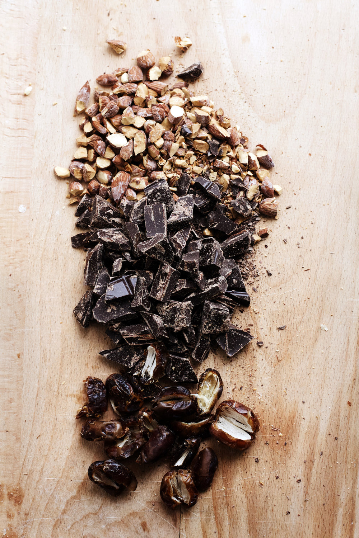 Dark Chocolate, Date + Salted Almond Cookies