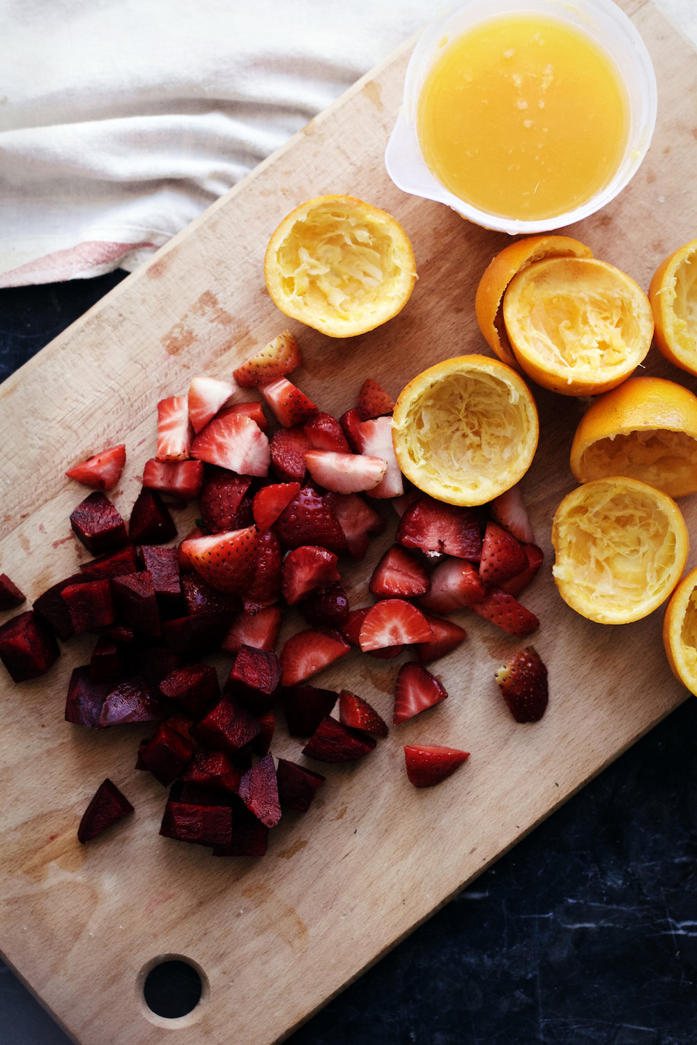 Ruby Red Resilience Juice- An immunity packed smoothie w/ beets, orange, strawberries + honey | Ruby Josephine