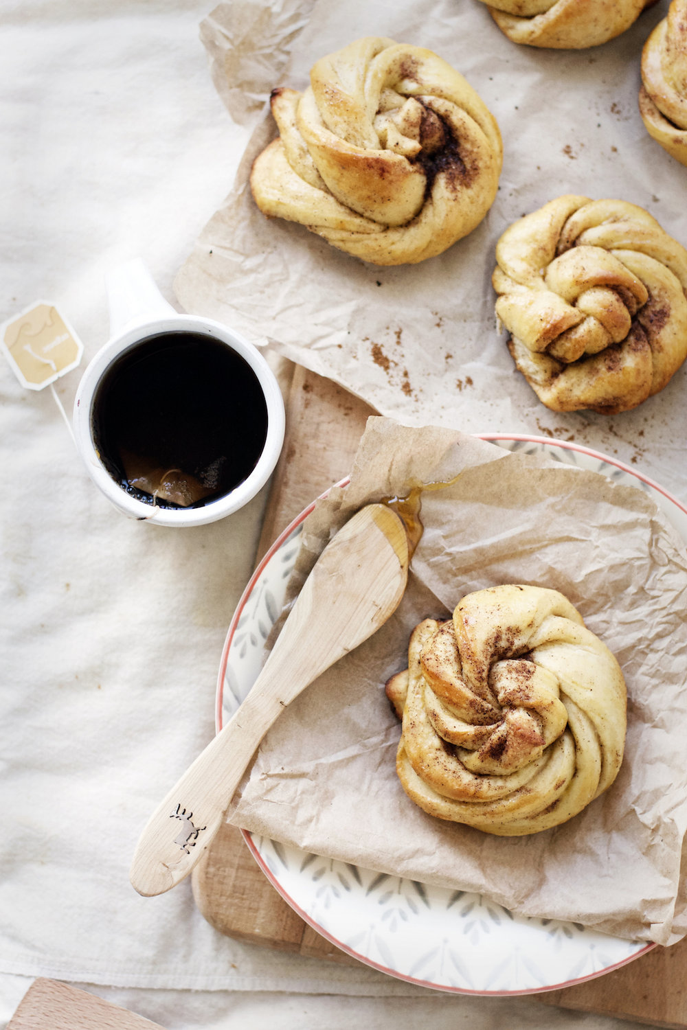 Honey Butter Cardamom Buns | Ruby Josephine