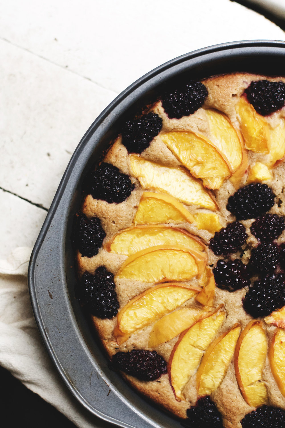 Peach + Blackberry Almond Cake {gluten-free} | Ruby Josephine