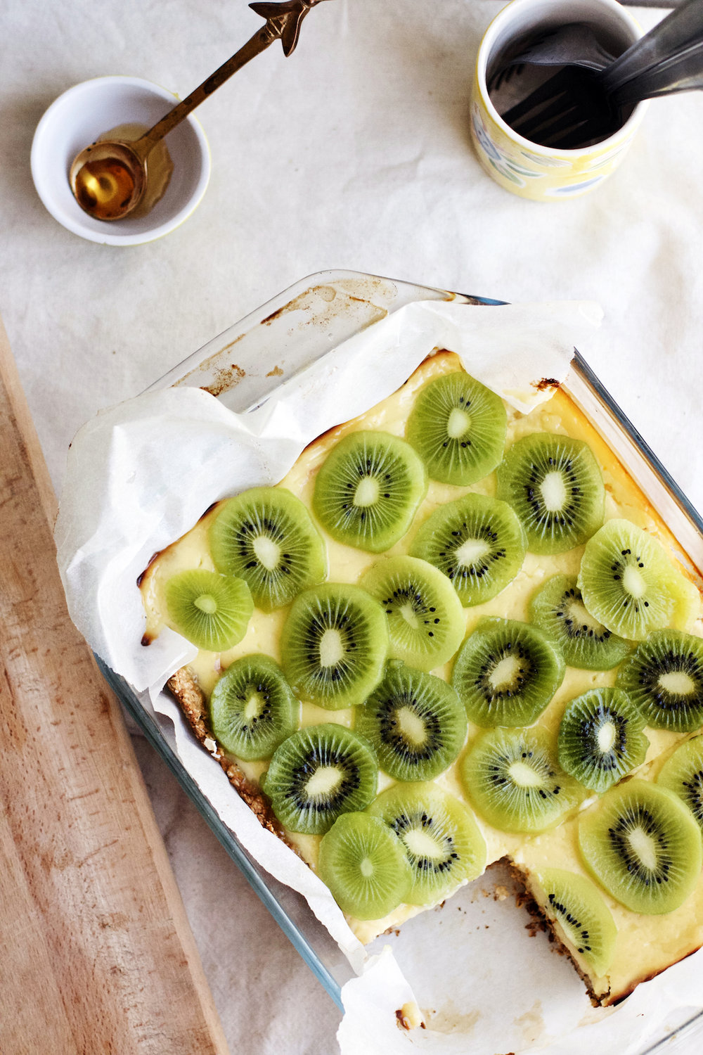 Kiwi + Honey Yogurt Bars (gluten-free) | Ruby Josephine