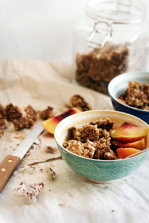 Tahini Orange Blossom Granola (gluten-free + vegan optional) | Ruby Josephine