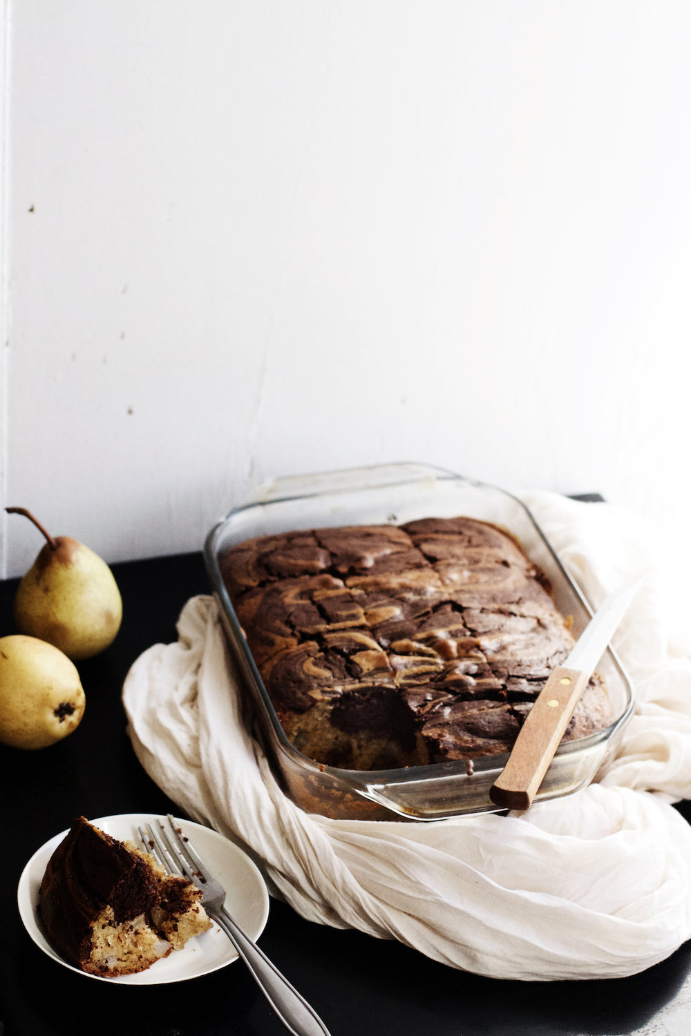 Pear + Chocolate Marble Cake | Ruby Josephine