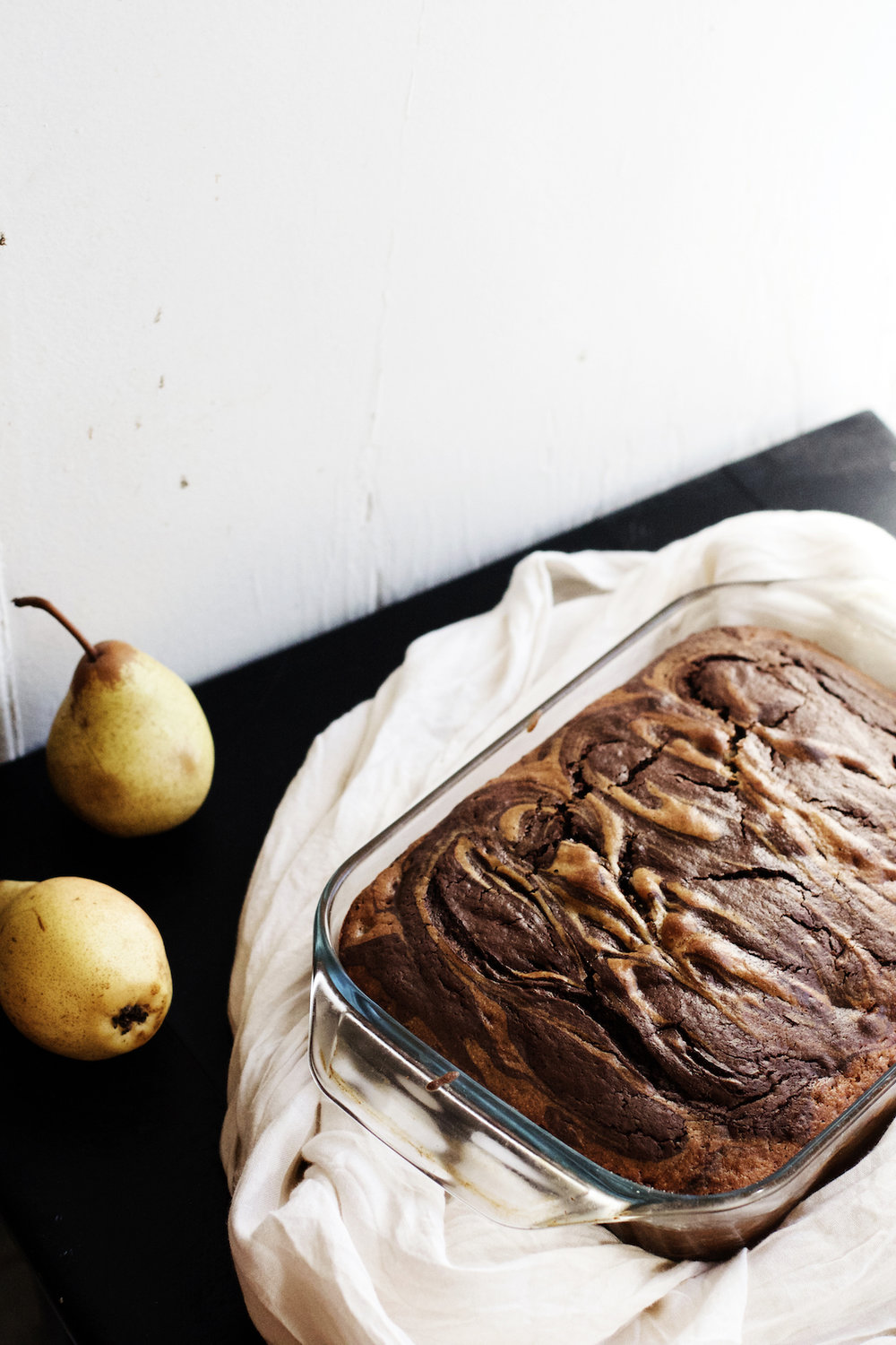 Pear + Dark Chocolate Marble Cake | Ruby Josephine