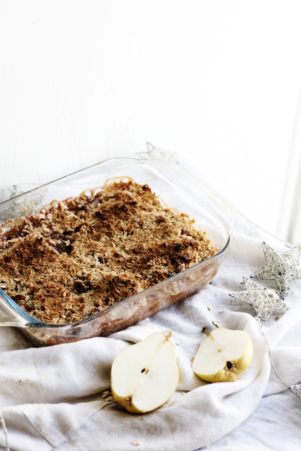 Pear + Poached Quince Cardamom Crisp | Ruby Josephine