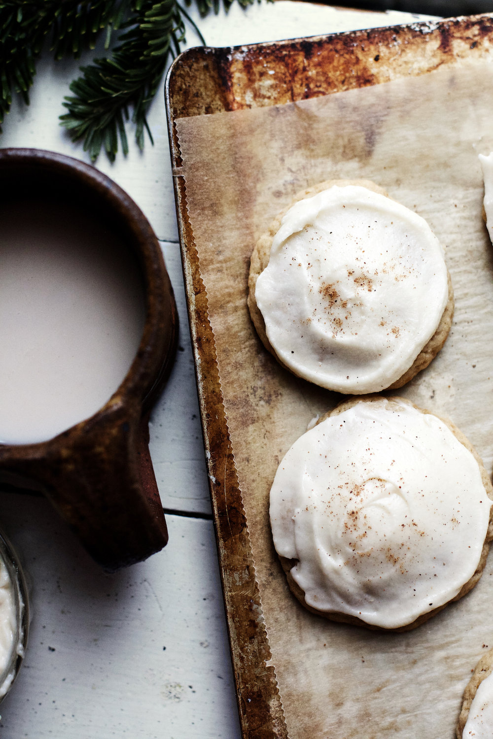 Fluffy Frosted Eggnog Cookies (vegan) - possibly my favorite Christmas Cookie of all time | Ruby Josephine