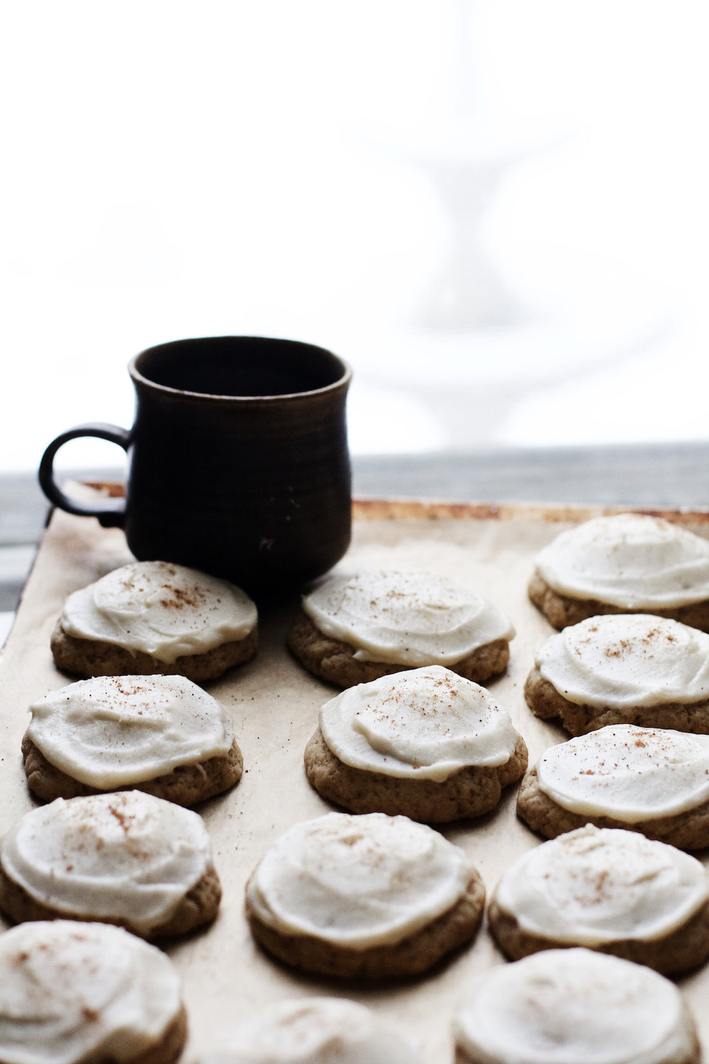 Vegan Frosted Eggnog Cookies - possibly my favorite Christmas Cookie of all time | Ruby Josephine