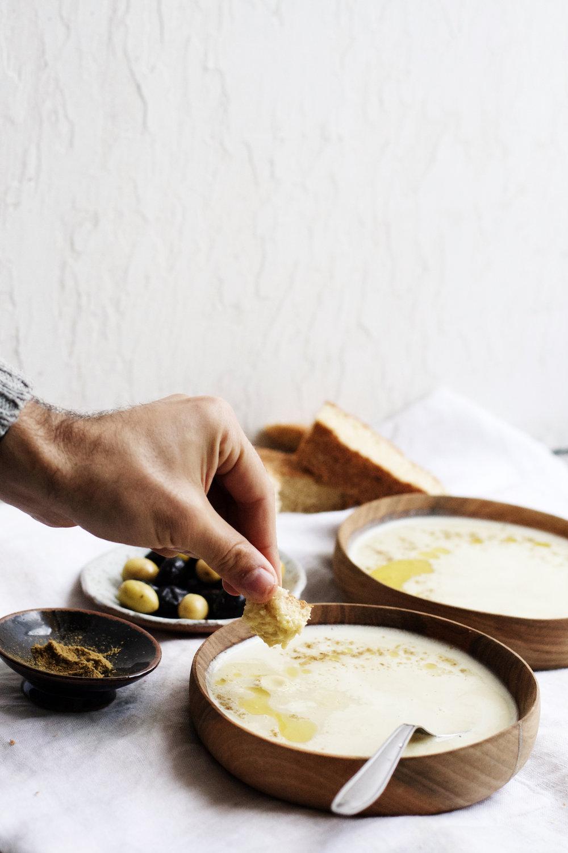 Bissara   Moroccan Split Pea + Fava Bean Soup (vegan optional)   Ruby Josephine