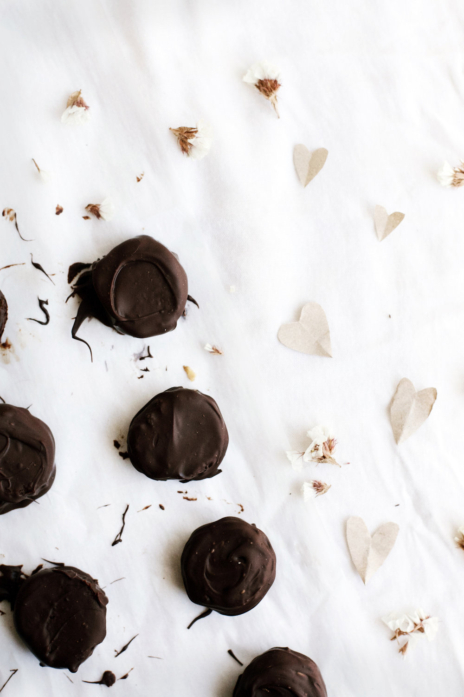 Dark Chocolate + Orange Blossom Date Caramels