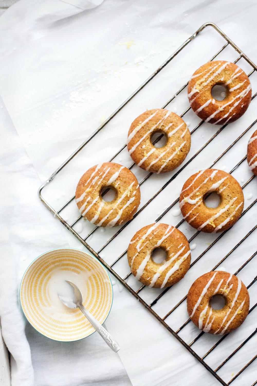 Lemon Chia Baked Donuts w/ Sticky Lemon Glaze (gluten-free) | Ruby Josephine
