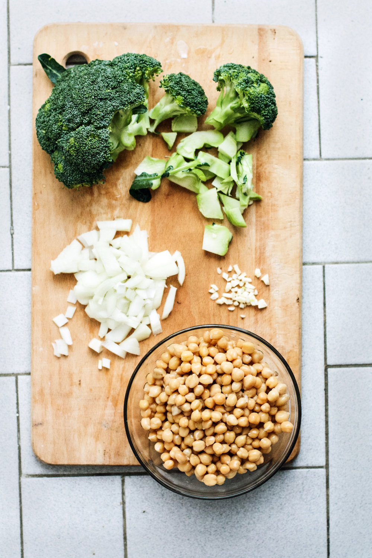 Broccoli Chickpea Soup w/ Turmeric + Tahini (vegan, gf) | Ruby Josephine