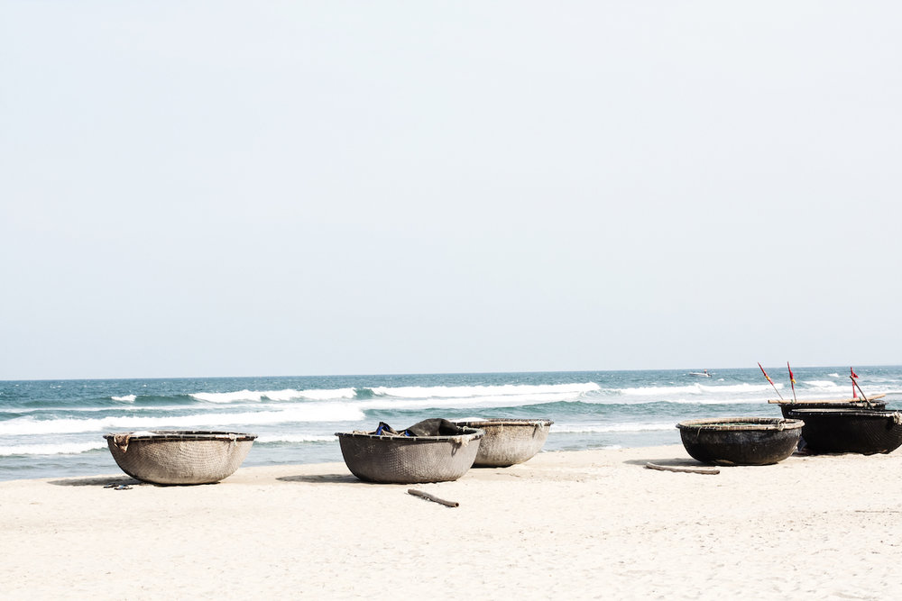 Coconut Boats on the Da Nang Beach, Vietnam Travel Diary | Ruby Josephine