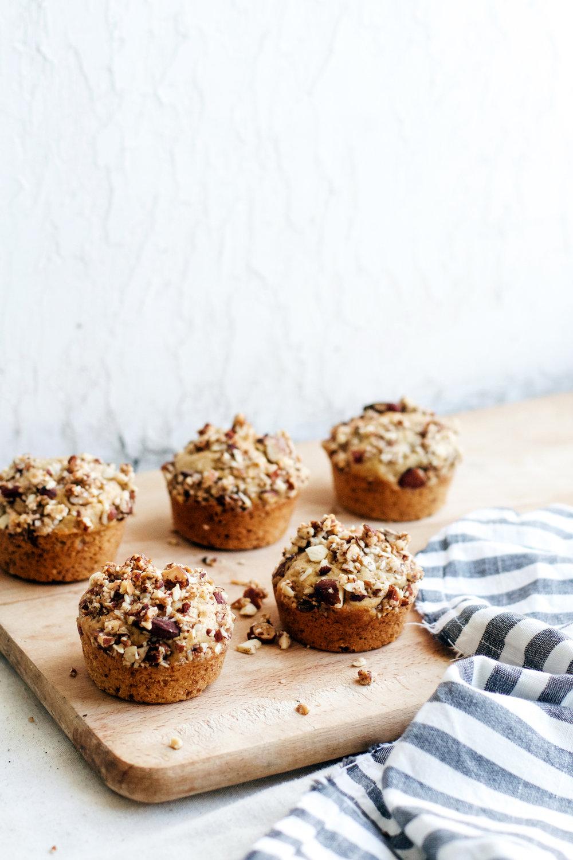 Almond + Espresso Banana Crumble Muffins | Ruby Josephine