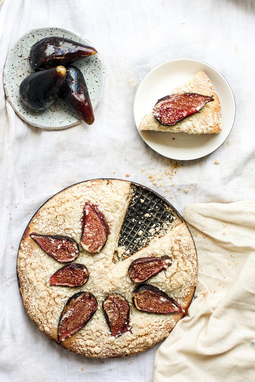 Yeasted Cardamom and Fig Cake {vegan}   Ruby Josephine