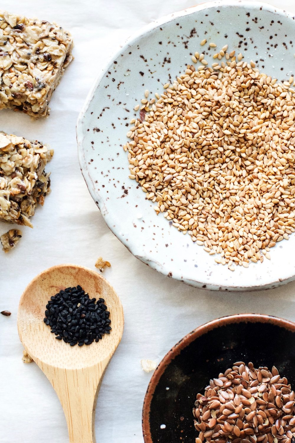 Tahini + Honey Super Seed Chewy Granola Bars {gluten-free} | Ruby Josephine