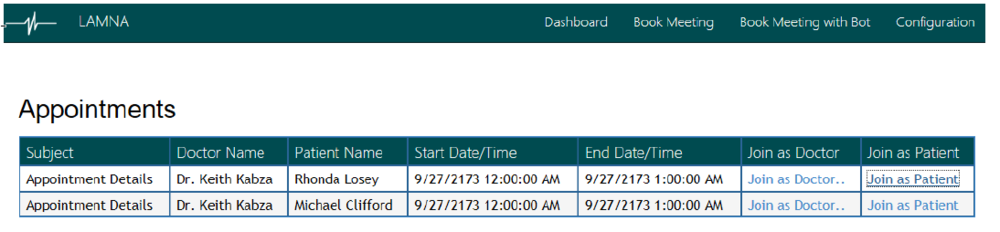 2-Template Dashboard After Creating Two Appointments.png