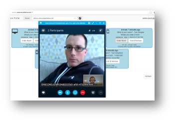 Your staff continue to use the Skype for Business or Microsoft Teams client to conduct video consultation sessions. -