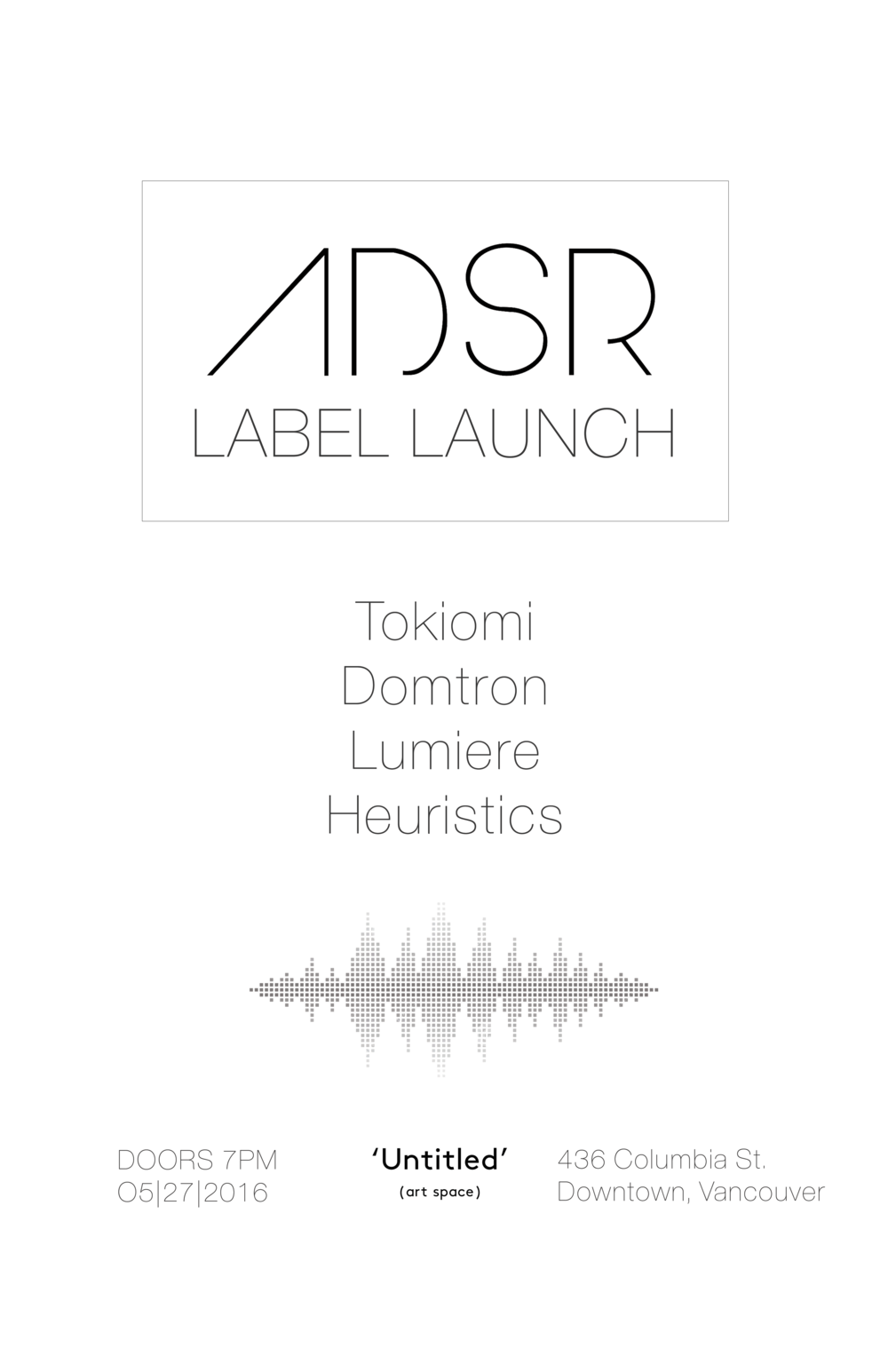 ADSR Label launch