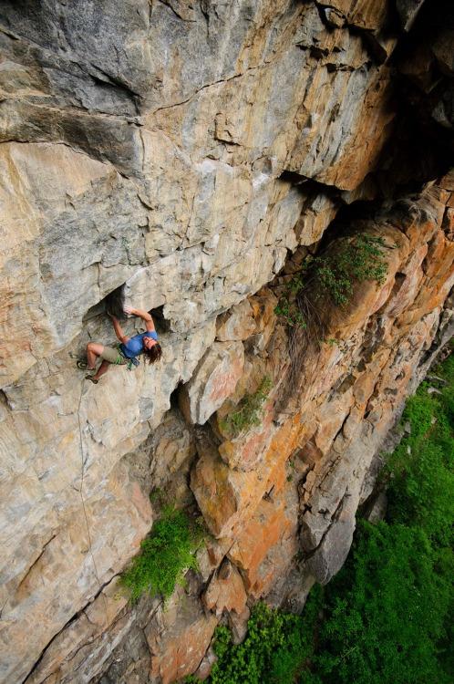 Nathan Hall rock climbing in Squamish, British Columbia, Canada.