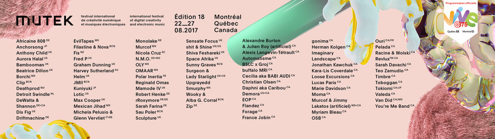 ADSR artist Tokiomi confirmed in Mutek Montreal 2017 lineup.