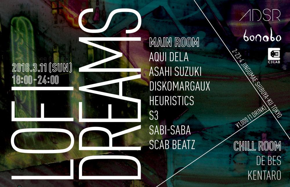 Sunday March 11th @ B  onobo  2-23-4 Jingumae Shibuya-ku Tokyo, Japan