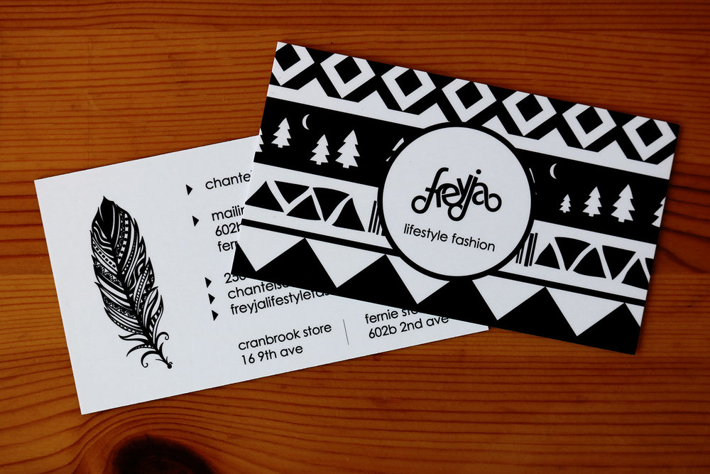 Freyja Lifestyle Fashion Business Cards