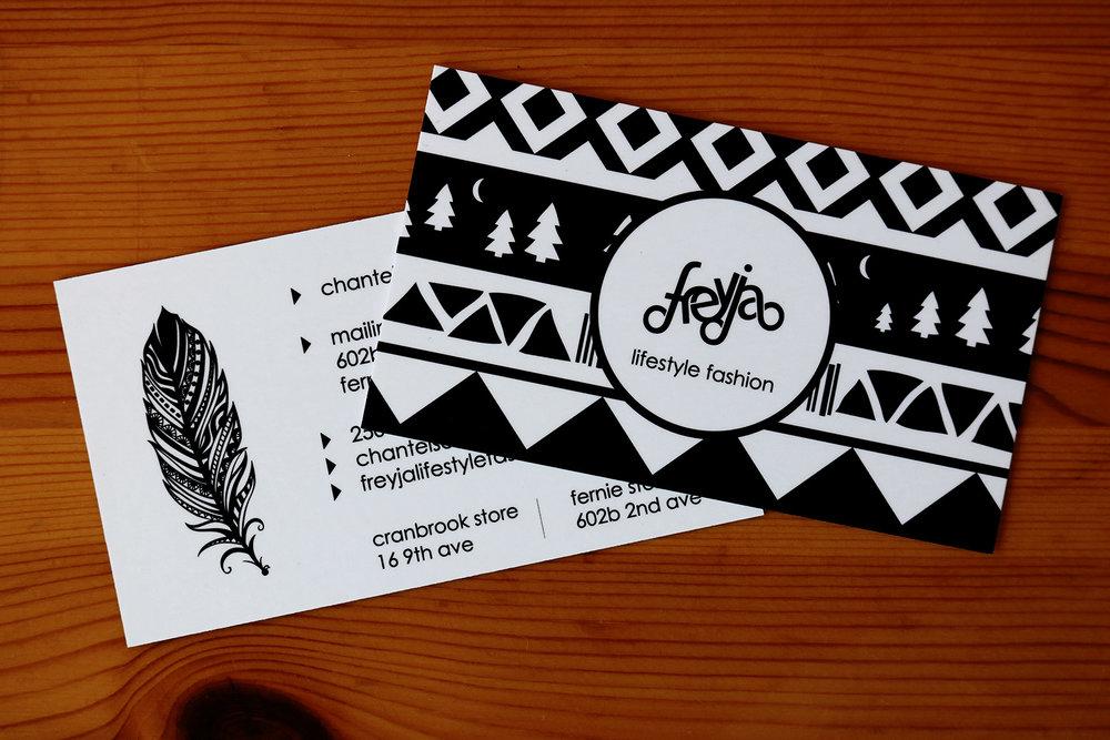 Freyja Lifestyle Fashion Business Card