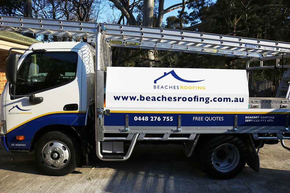 Vehicle Branding for Beaches Roofing