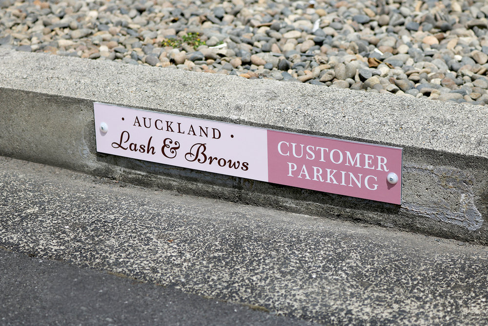 Auckland Lash & Brows Parking Signage