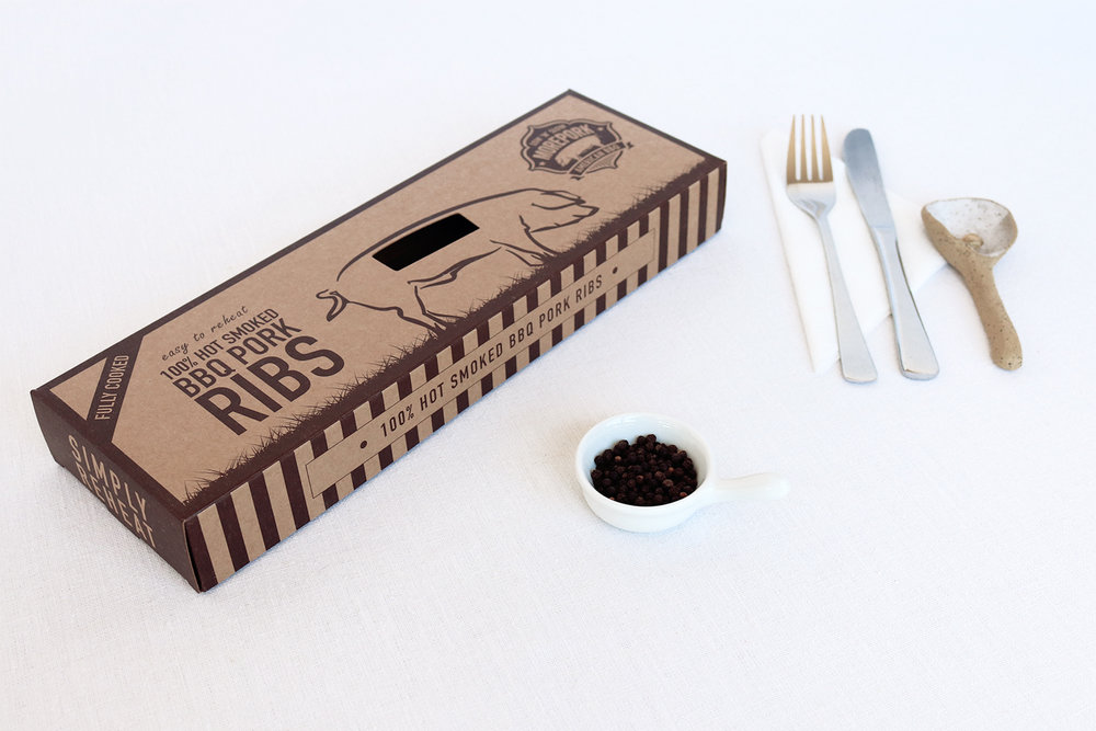 Morepork BBQ Ribs Packaging