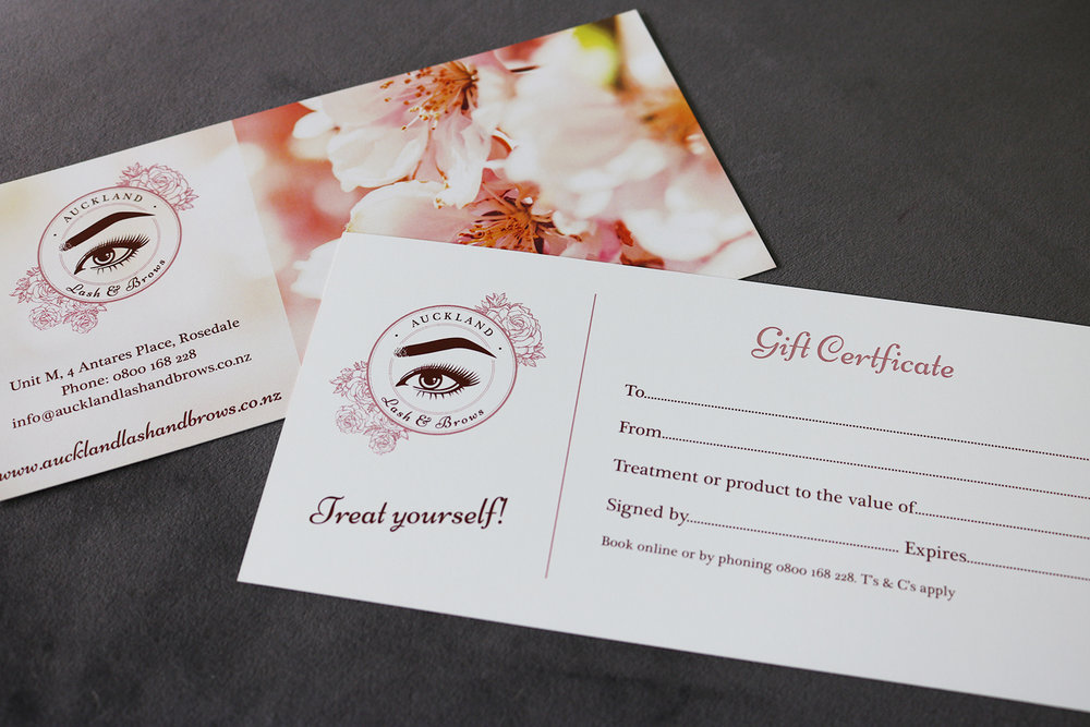 Auckland Lash & Brows Gift Certificates