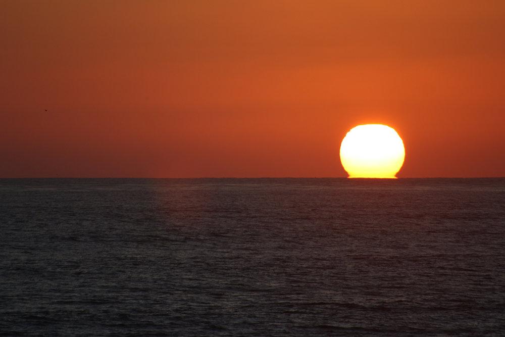 California Sunset from  Crystal Pier , San Diego, California, USA