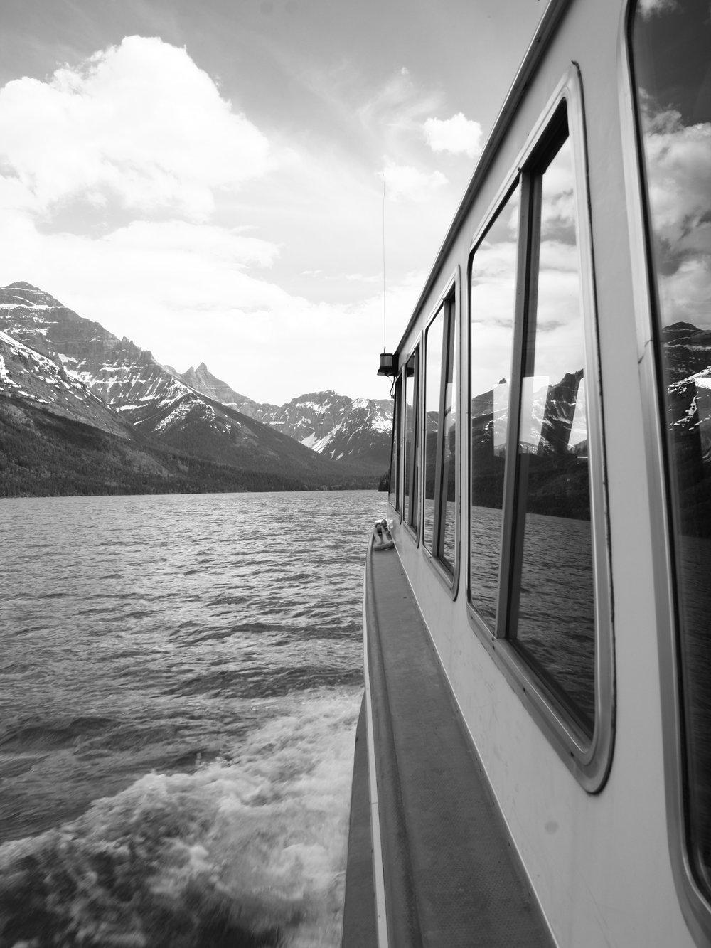 Boat Trip on Waterton Lake , Alberta Canada to Goat Haunt, Montana, USA