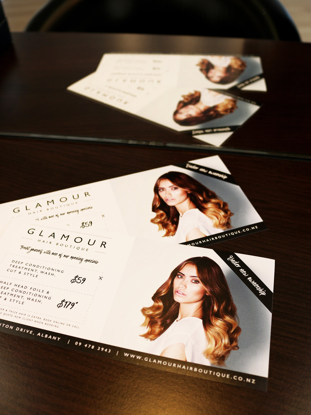 Glamour Hair Boutique DLE Flyer Design