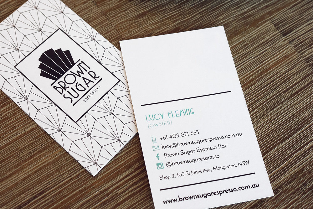 Brown Sugar Espresso Business Cards