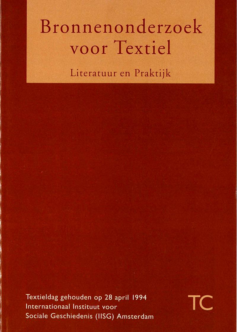 - Bronnen onderzoek voor textielVoorjaar 1994