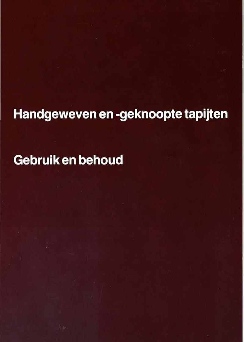 - Handgeweven en -geknoopte tapijten Voorjaar 1983