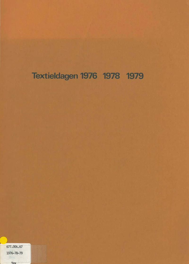 - Textieldagen 1976 - 1979