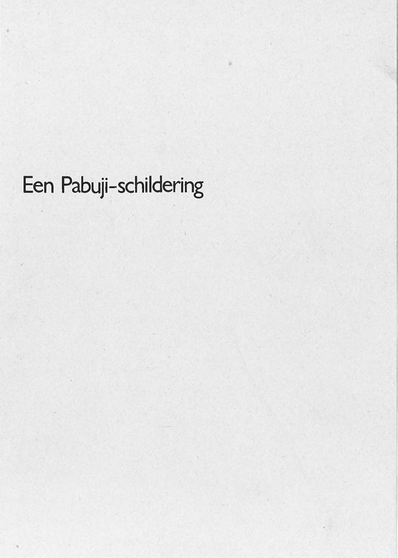 - Een pabuji schildering1974