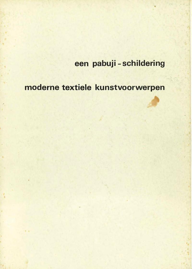 - Een pabuij-schildering, Moderntextiele kunstvoorwerpen1974