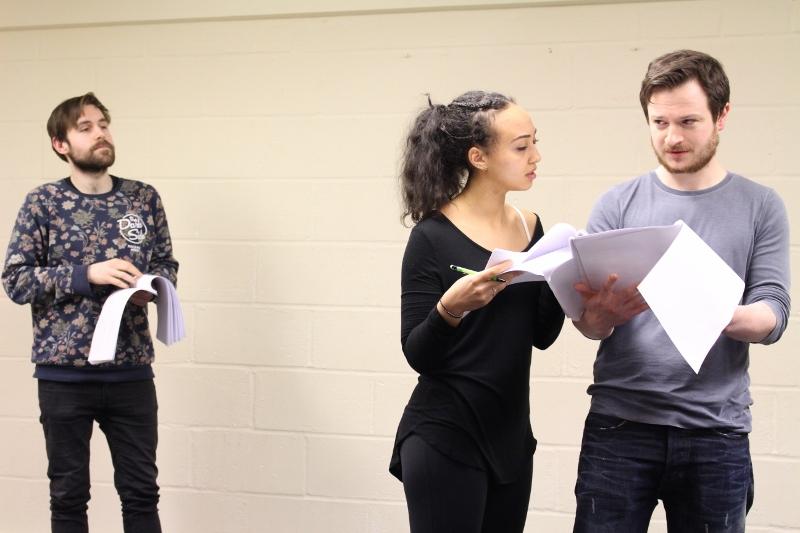 Daniel Foxsmith (John Rolfe), Yasmine Hassabu (Pocahontas) and Salvatore D'Aquilla (John Smith)
