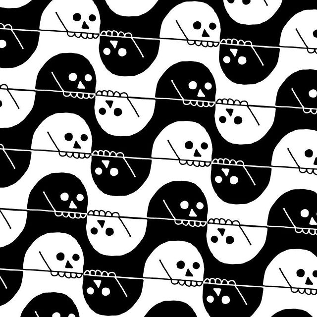 💀 Happy Halloween💀 #yorick #pattern #illustration #graphicdesign