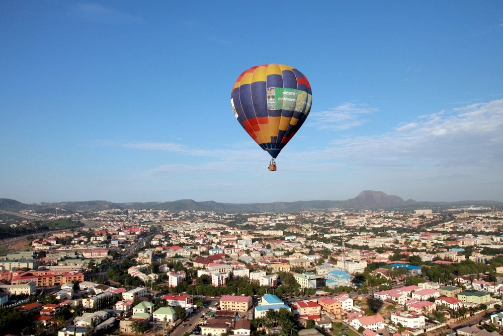 Hot air balloon over Abuja Nigeria. Tom Saater (1).JPG